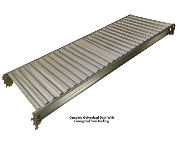 COMPLETE GALVANIZED DECK WITH CORRUGATED STEEL DECKING